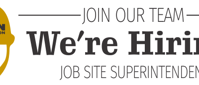 Ancon is Growing!  Open Position Announcement-Job Site Superintendent